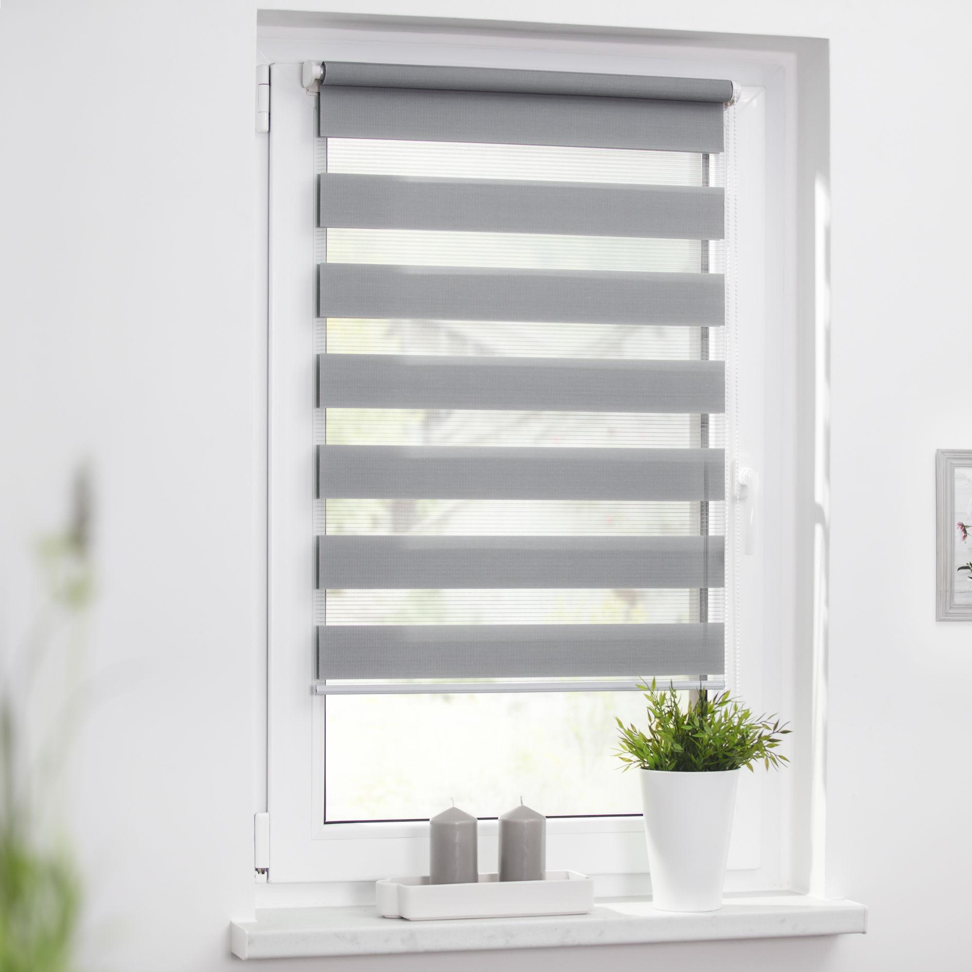 Gut gemocht Duo-Rollo 90 x 220 cm, Streifen - blickdicht - Fensterwelten - Marken TB36