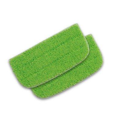 cleanmaxx Ersatz-Wischtücher 2er Set für Bodenkehrer 2in1    CHANNEL21