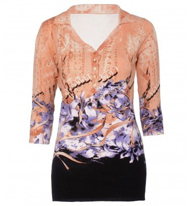 Longpullover mit floralem Druck IMAGINI ® Mode Pullover CHANNEL21