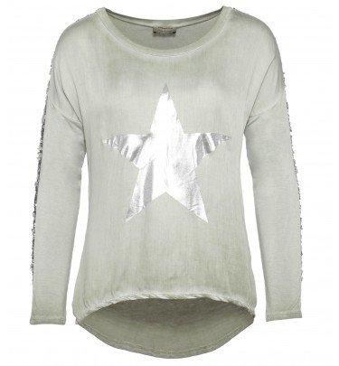 Shirt mit Pailletten im Used Look Urban Diva by Mirja Du Mont Mode Shirt CHANNEL21