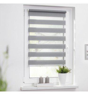 Extrem Duo-Rollo 45 x 150 cm, Streifen - blickdicht - Fensterwelten - Marken ZG74
