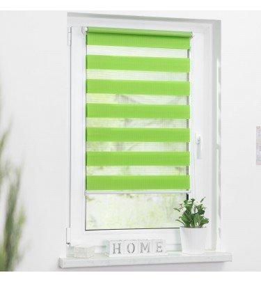 Duo-Rollo Streifen - 60cm x 150 cm blickdicht Fensterwelten Haushalt & Technik Duo-Rollo CHANNEL21