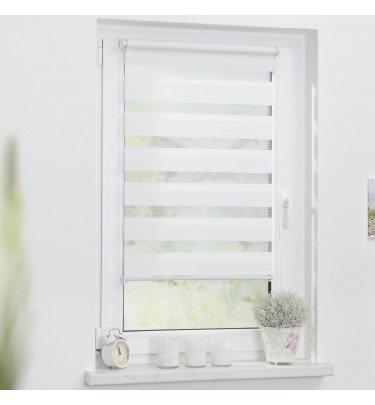 Duo-Rollo Streifen - 80cm x 150 cm blickdicht Fensterwelten Haushalt & Technik Duo-Rollo CHANNEL21