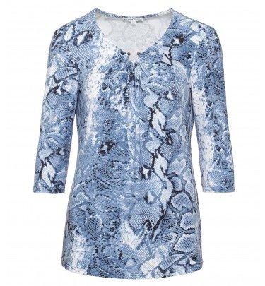 Shirt mit Schlangendruck MONACO blue Mode Shirt CHANNEL21