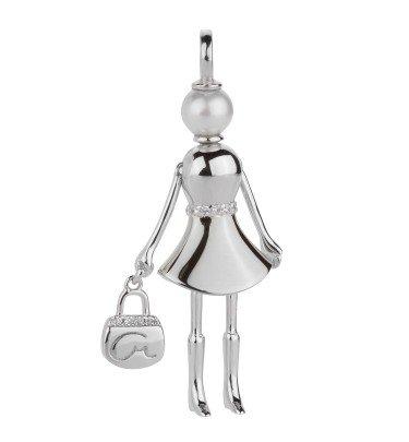 925er Silber Anhänger Shopping Queen