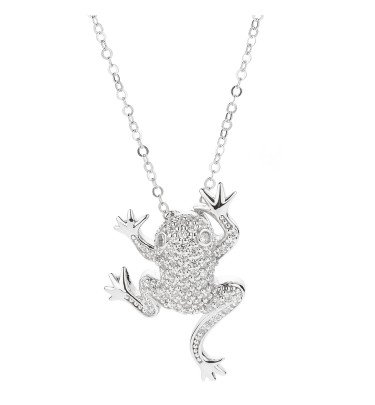 "Anhänger ""Waiting Frog"", Silber 925 rhodiniert"