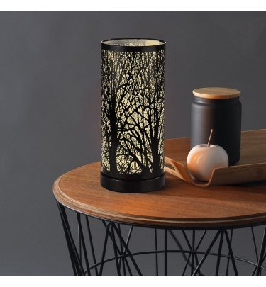 Edelstahl-Leuchte Magic Touch Waldmotiv 28cm