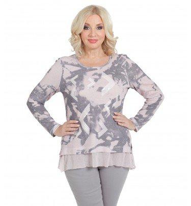 Pullover in Marmor-Optik