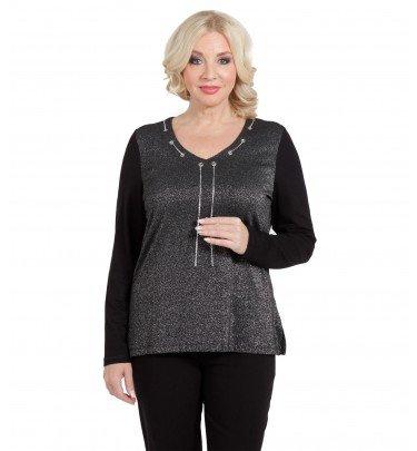 Pullover Glamour mit abnehmbarer Kette und Ösendetails