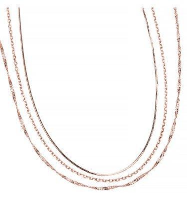 3-Teiliges Kettenset, 3 Längen, Silber 925