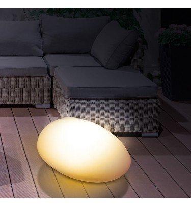 Solar-Dekostein 3,7 V weiß mit Farbwechsel & Fernbedienung