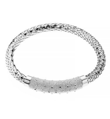 "Milanaise-Armband,  ""Stelle di Roma"", diamantiert"