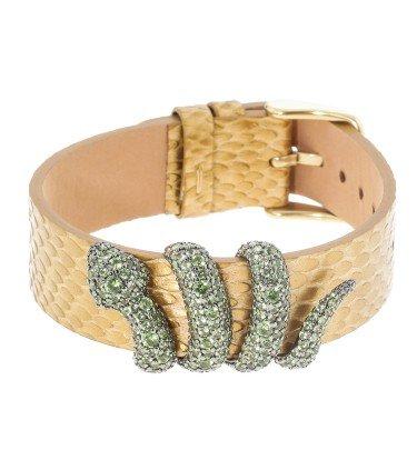 "Schlangen-Armband ""Boa-Wrap"", 258 Kristalle"