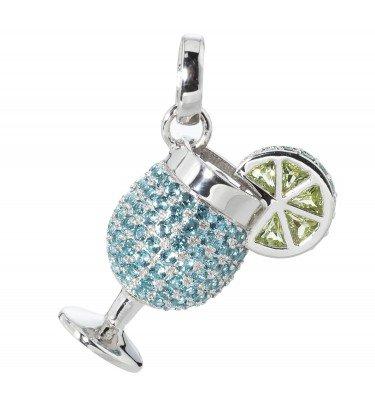 "Anhänger ""Cocktail Tropicana"", Silber 925, rhodiniert"