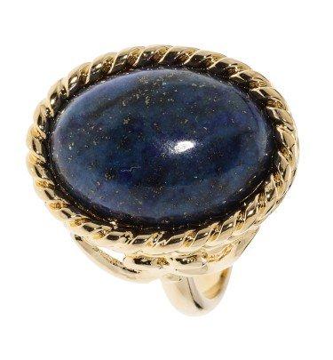 """Solitär-Ring """"Grotta Blu di Capri"""", vergoldet"""