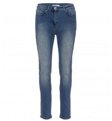 5-Pocket-Jeans mit seitlichem Glitzerband