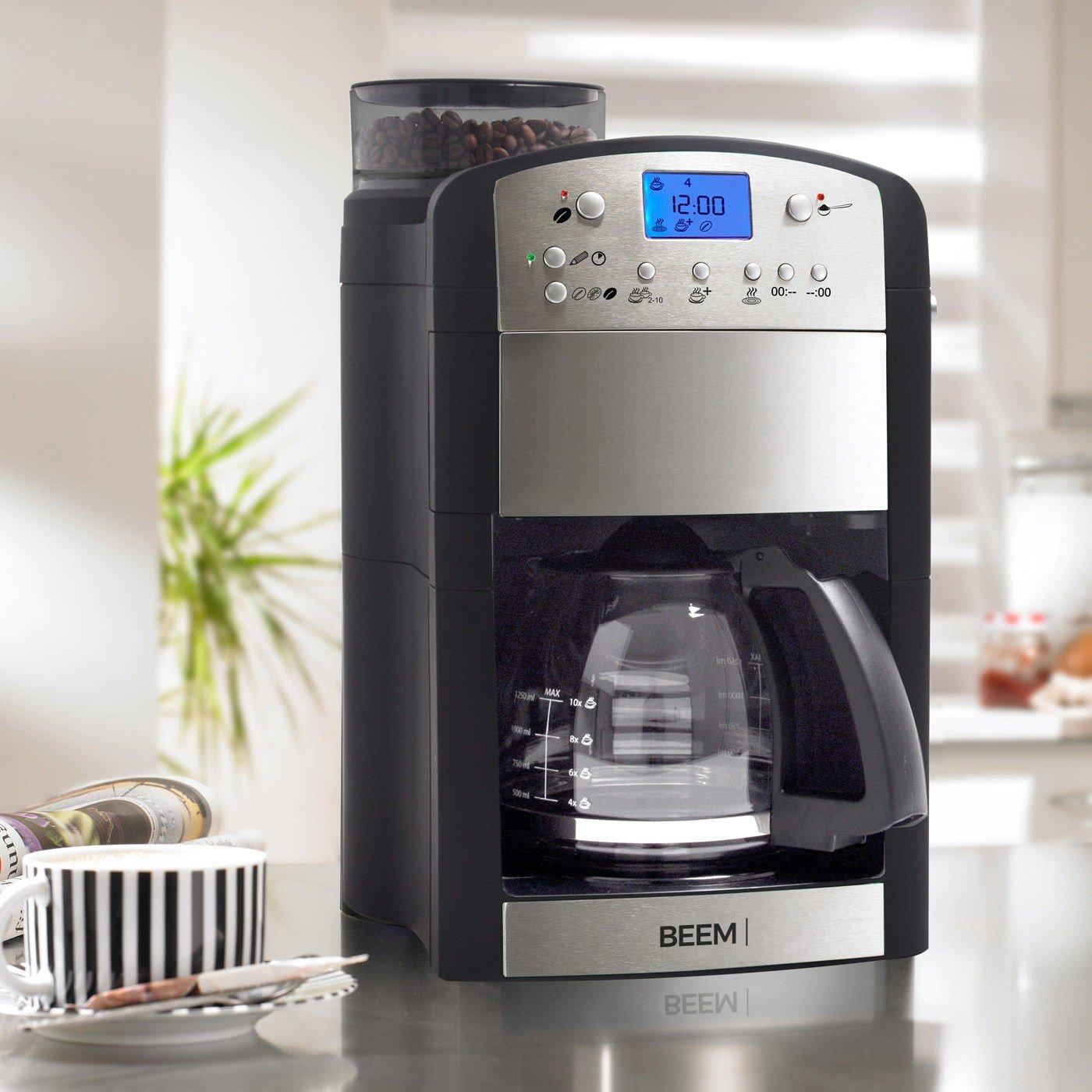 BEEM Fresh-Aroma-Perfect Thermostar Edelstahl Kaffeemaschine Mahlwerk integriert