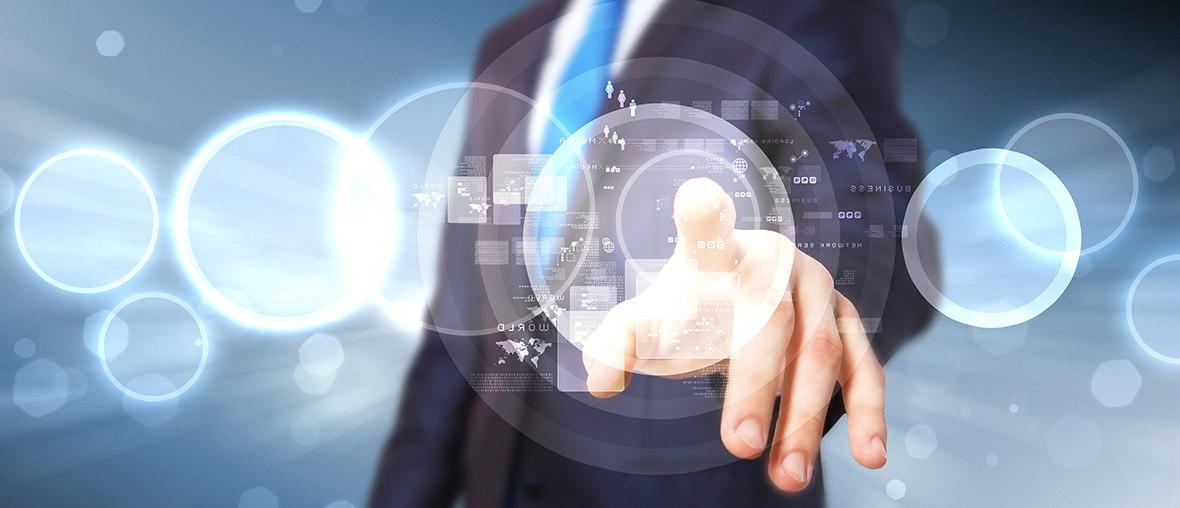 Hand bedient imaginären Touchscreen