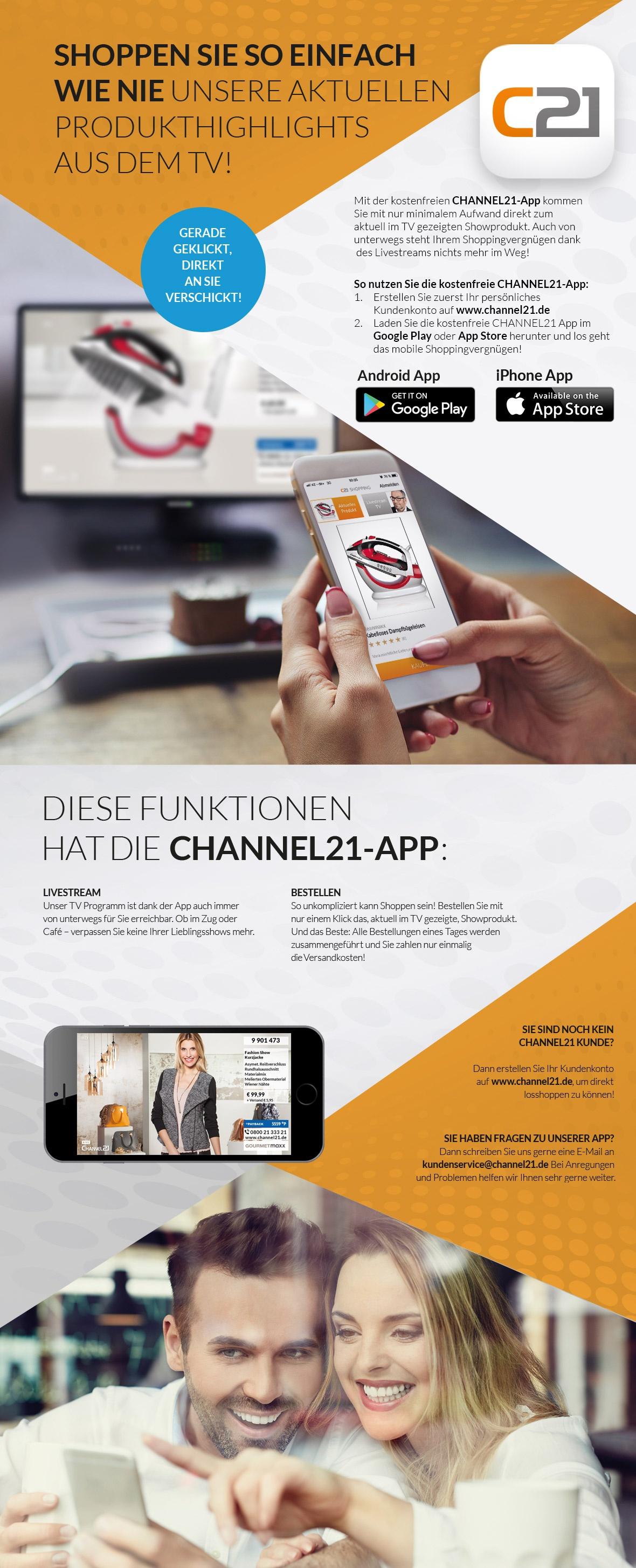 Entdecken Sie die C21 App