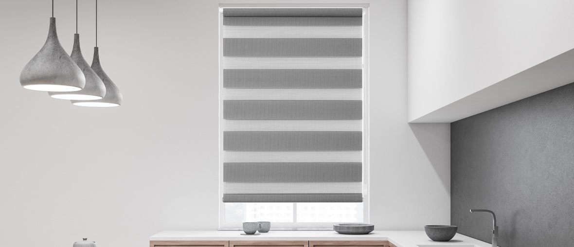 Markenheader Fensterwelten Duo Rollos
