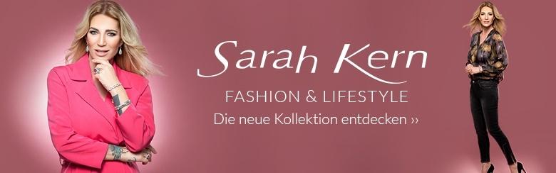 Sarah Kern mit ihrer eigenen Designermode bei Channel21.