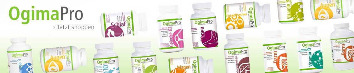 Banner mit Ogima Pro Produkten und Dr. Herbert Plum
