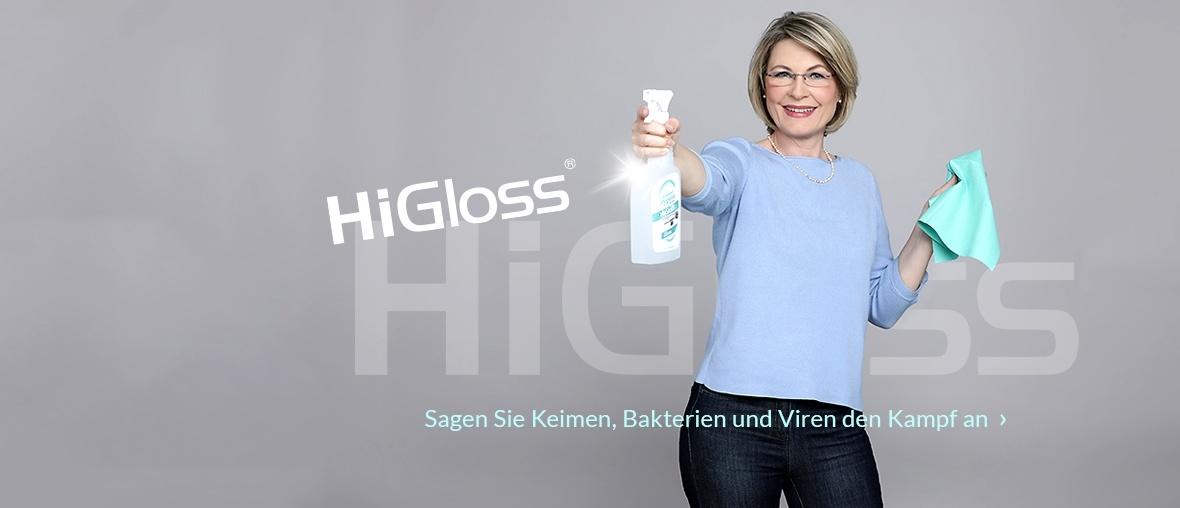 Produktreihe von Higloss Hygiene